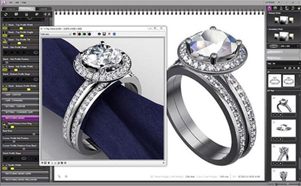 3D CAD Bespoke Jewelley Design