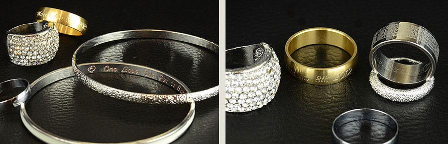 Jewellery Engraving - Engraving Rings Bracelets Bangles