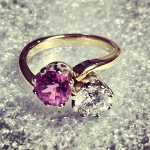 pink,sapphire,diamond,engagement ring